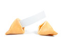 Fortune Cookie Blank Stock Photo