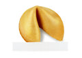 Fortune cookie with a message on a white background Royalty Free Stock Photo