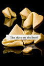 Fortune cookie: The skies are the limit! Royalty Free Stock Photo