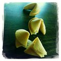 Fortune cookies table top Royalty Free Stock Photo