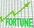 Fortune graph chart shows increasing good luck showing and money Stock Photography