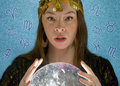 Fortune Teller with Crystal ball Stock Photos