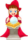 Fortune teller with crystal ball vector Stock Photo