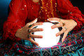 Fortune-teller's hands Stock Image