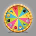 Fortune wheel design element