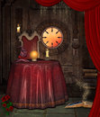 Fortuneteller room beautiful magic background with crystal ball Royalty Free Stock Photography