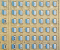 Forty-eight windows on vintage building