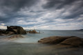 The forty foot is a famous swimming location on dublin bay named after a battalion of british army stationed there a long time Stock Image
