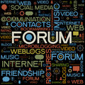 Forum backgrounds with the words Stock Photography