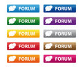 Forum buttons Stock Photography