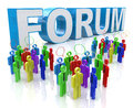 Forum group discussion in the design of information related to communication Royalty Free Stock Photography