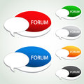 Forum menu item - oval sticker Stock Photos