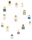 Forum moderator social and business network or people icon Royalty Free Stock Photo