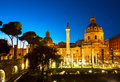 Forum - Roman ruins in Rome, Italy Royalty Free Stock Photo
