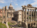 The Forum Romanum Royalty Free Stock Photo