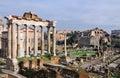 Forum Romanum: Temple of Saturn Stock Image