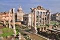 Forum Romanum: Temple of Saturn Stock Photos