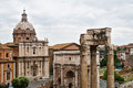 The Forum ruins in Rome, Italy Royalty Free Stock Photo