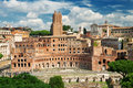 The forum of Trajan in Rome Stock Photography