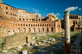 The forum of Trajan in Rome Stock Images