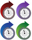Forward Clock Arrow Set Stock Image