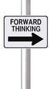 Forward thinking a modified one way street sign on Royalty Free Stock Images