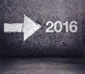 Forward to 2016 New Year Royalty Free Stock Photo