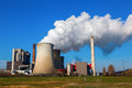Fossil-fuel power station Royalty Free Stock Photo