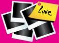 Foto's en document met liefde Stock Foto