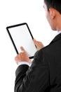 Foto van een zakenman die tabletpc met behulp van Stock Foto