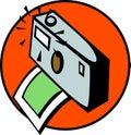 Fotografisk fotografi för kamera som tar vektorn Arkivbilder