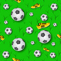 Fottball Seamless Pattern Royalty Free Stock Images