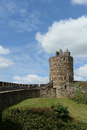Fougere castle scenic view of in france showing tower and battlements Royalty Free Stock Photos