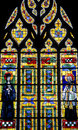 Fougeres - Church, stained glass Royalty Free Stock Photography