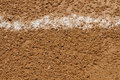 Foul Ball Chalk Line On A Baseball Field Royalty Free Stock Photo