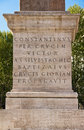 Foundation of the lateran obelisk rome italy in front cathedral Royalty Free Stock Image