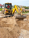 Foundation sand filling Royalty Free Stock Photo
