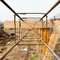 Foundations steel structure Stock Photography