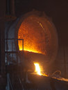 Foundry eliquation of cast iron in the manufacture Royalty Free Stock Photography