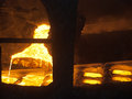 Foundry eliquation of cast iron in the manufacture Royalty Free Stock Photo