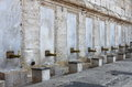Fountain for ablutions in yeni cami mosque istanbul turkey Stock Photos