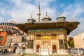 Fountain of ahmed iii near hagia sophia Royalty Free Stock Images