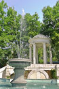 Fountain and arbor Royalty Free Stock Photo