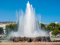 Fountain beautiful in vienna austria Royalty Free Stock Photography