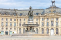 Fountain in Bordeaux's Place de la Bourse Royalty Free Stock Photo