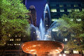 Fountain Bryant Park New York City Night Stock Images