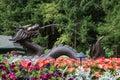 Fountain, Butchart Gardens, Victoria, BC, Canada Royalty Free Stock Photo