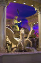 Fountain in Caesar's Palace in Las Vegas Royalty Free Stock Photo
