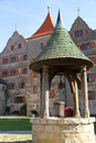 Fountain in the Castle Harburg Royalty Free Stock Images