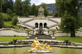 The fountain of castle Linderhof Royalty Free Stock Images